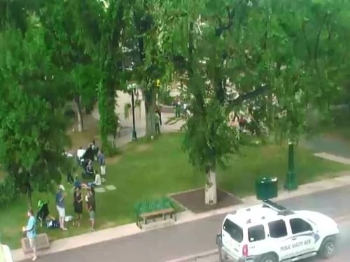 Santa Fe Plaza, New Mexico live cam