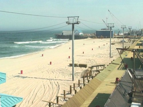 Seaside Heights Boardwalk Construction live cam