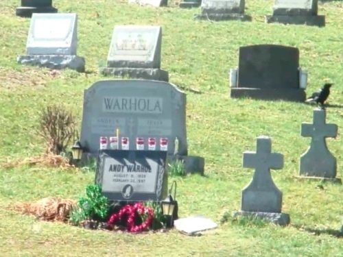 Andy Warhol Grave, Pittsburgh live cam