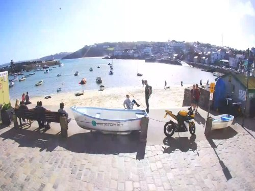 St. Ives Harbor, Cornwall live cam